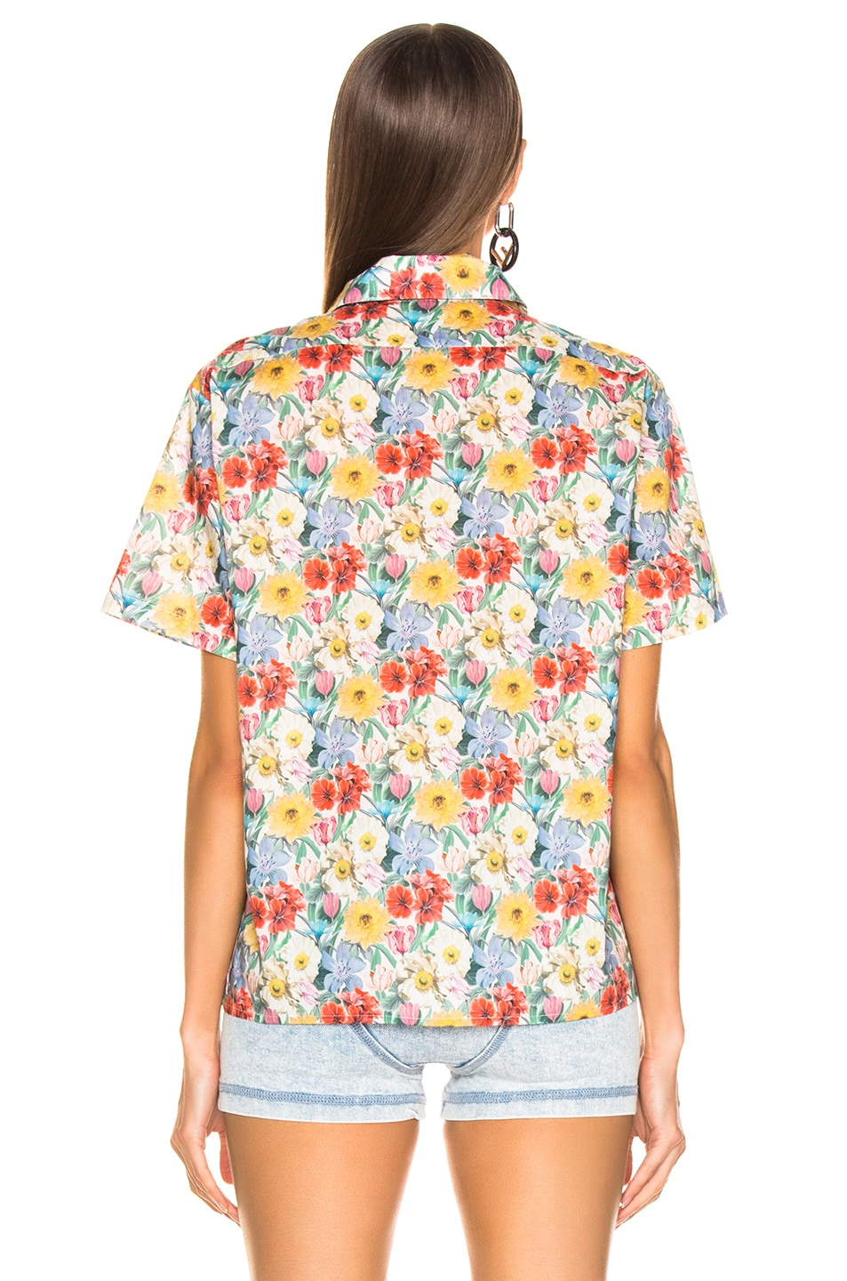 Image 3 of R13 Skater Shirt in Multicolor Floral