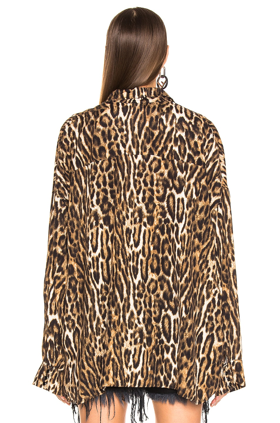 Image 3 of R13 Oversized Cowboy Shirt in Leopard