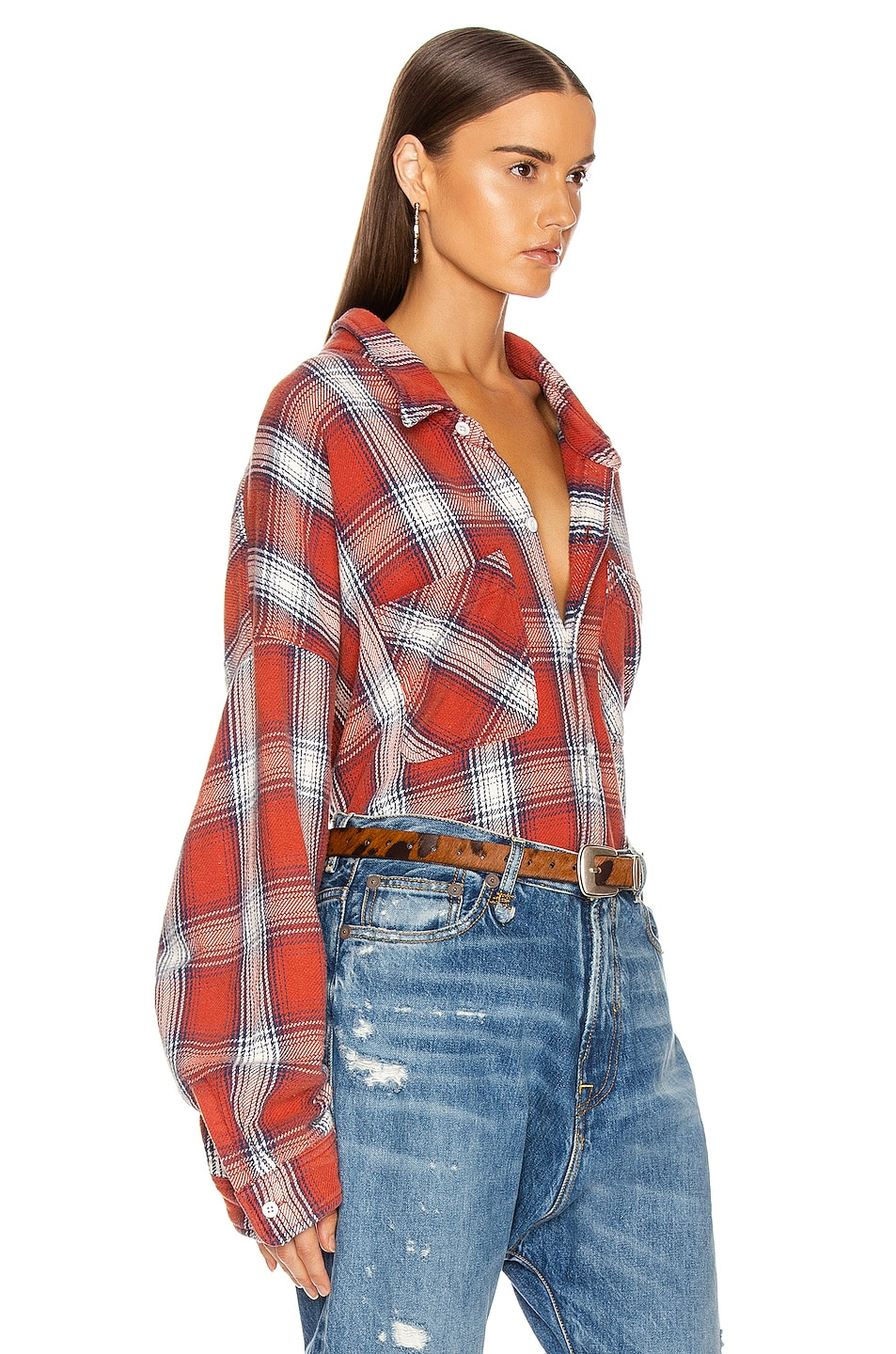 Image 2 of R13 Bigmac Shirt in Red Plaid