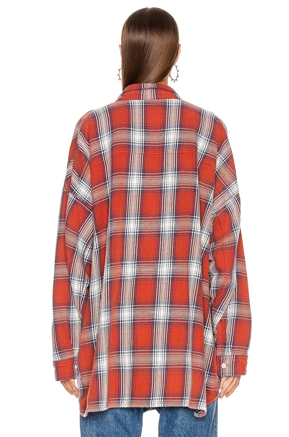 Image 3 of R13 Bigmac Shirt in Red Plaid