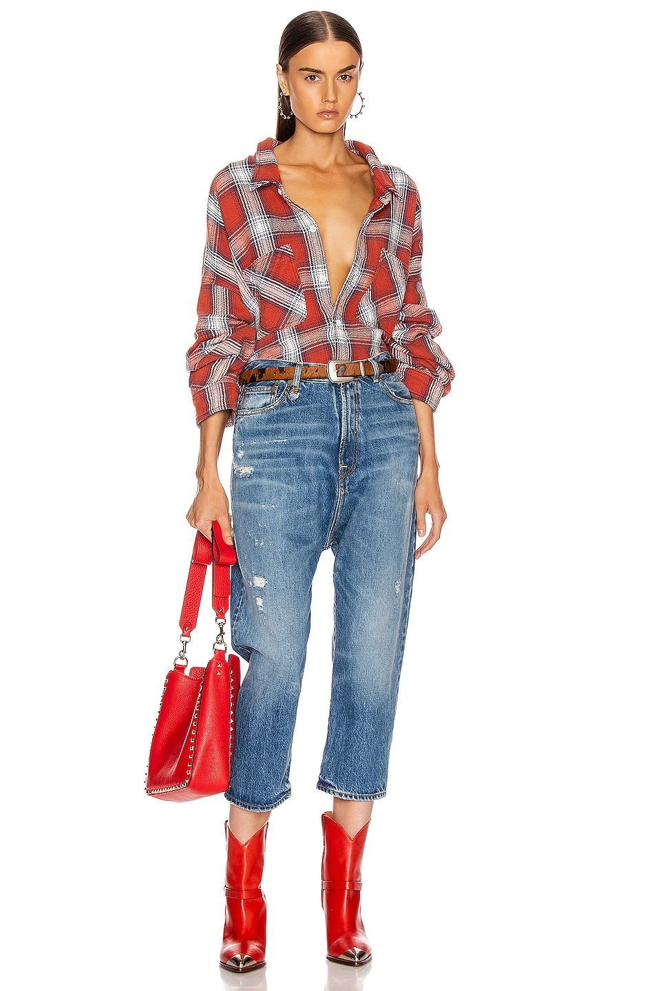 Image 4 of R13 Bigmac Shirt in Red Plaid