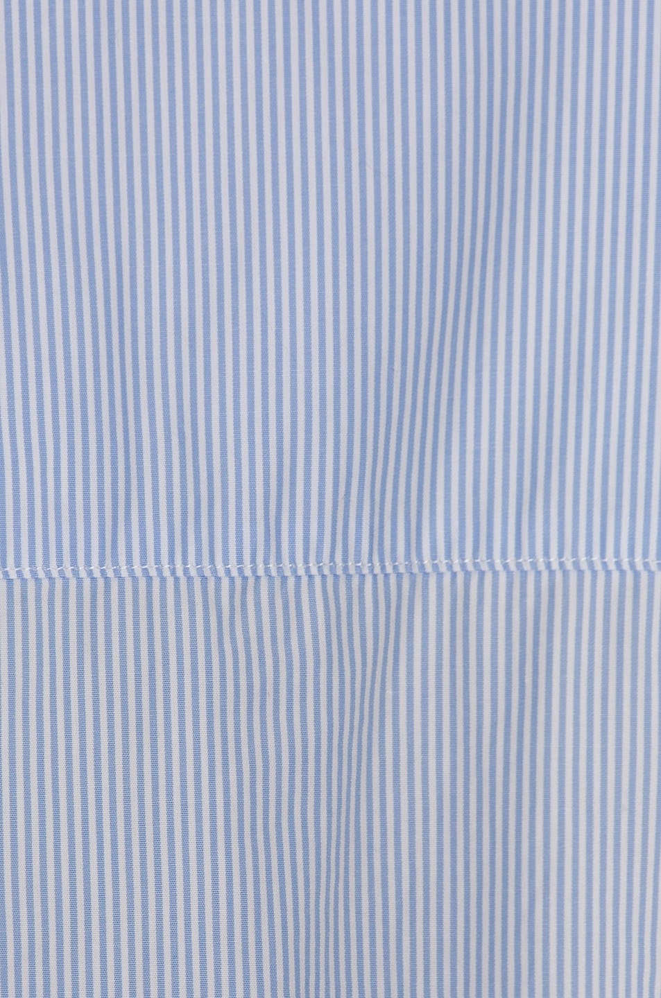 Image 5 of R13 Drop Neck Oxford Shirt in Blue & White Pinstripe
