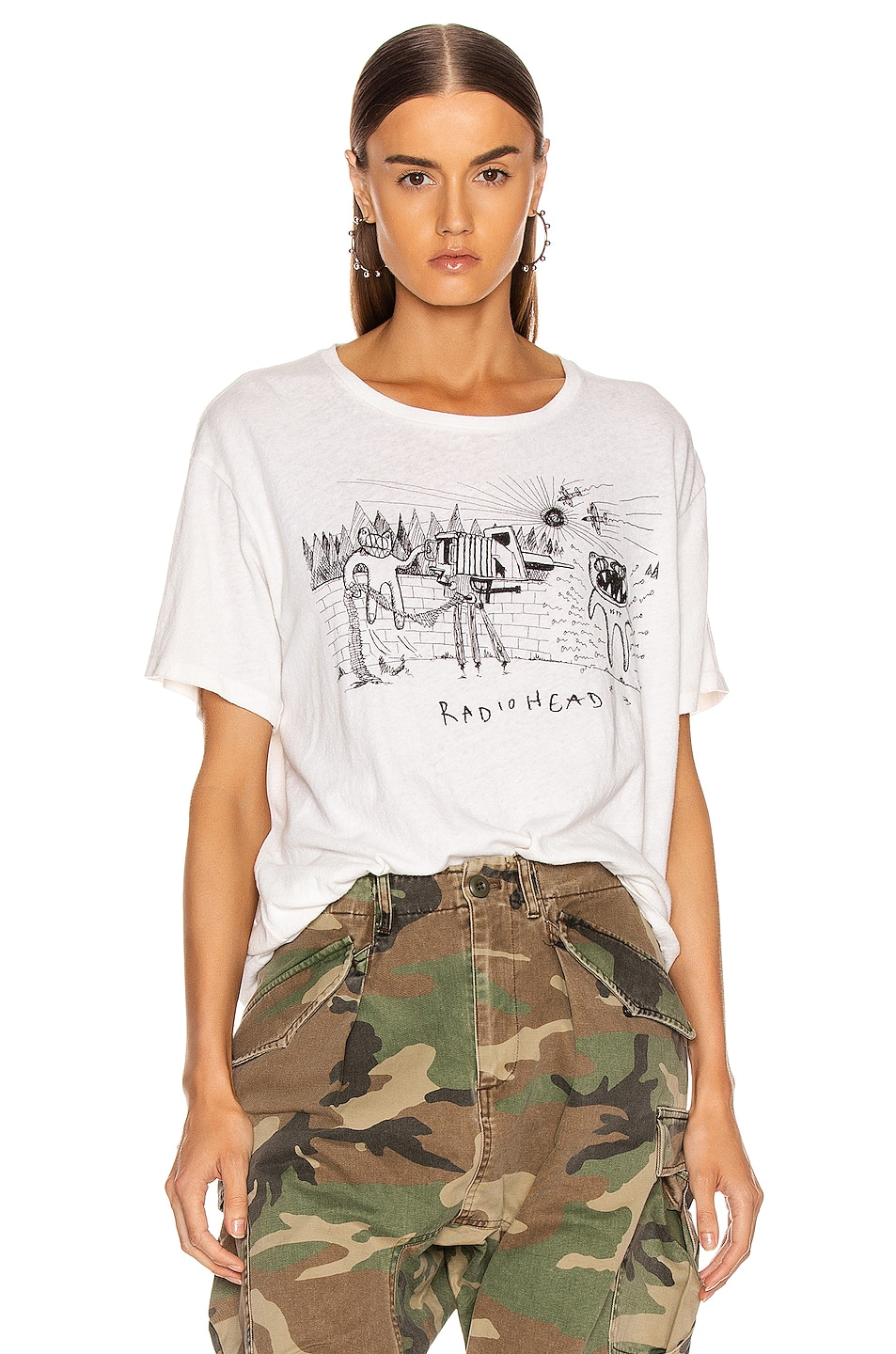 Image 1 of R13 Dspt Event Boy Tee in Dirty White