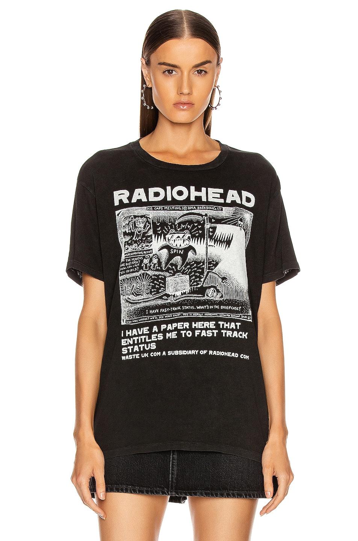Image 2 of R13 Radiohead Ice Caps Boy Tee in Acid Black