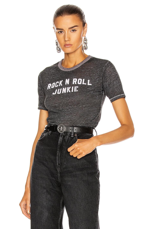 Image 1 of R13 Rock N Roll Junkie Skate Tee in Heather Grey