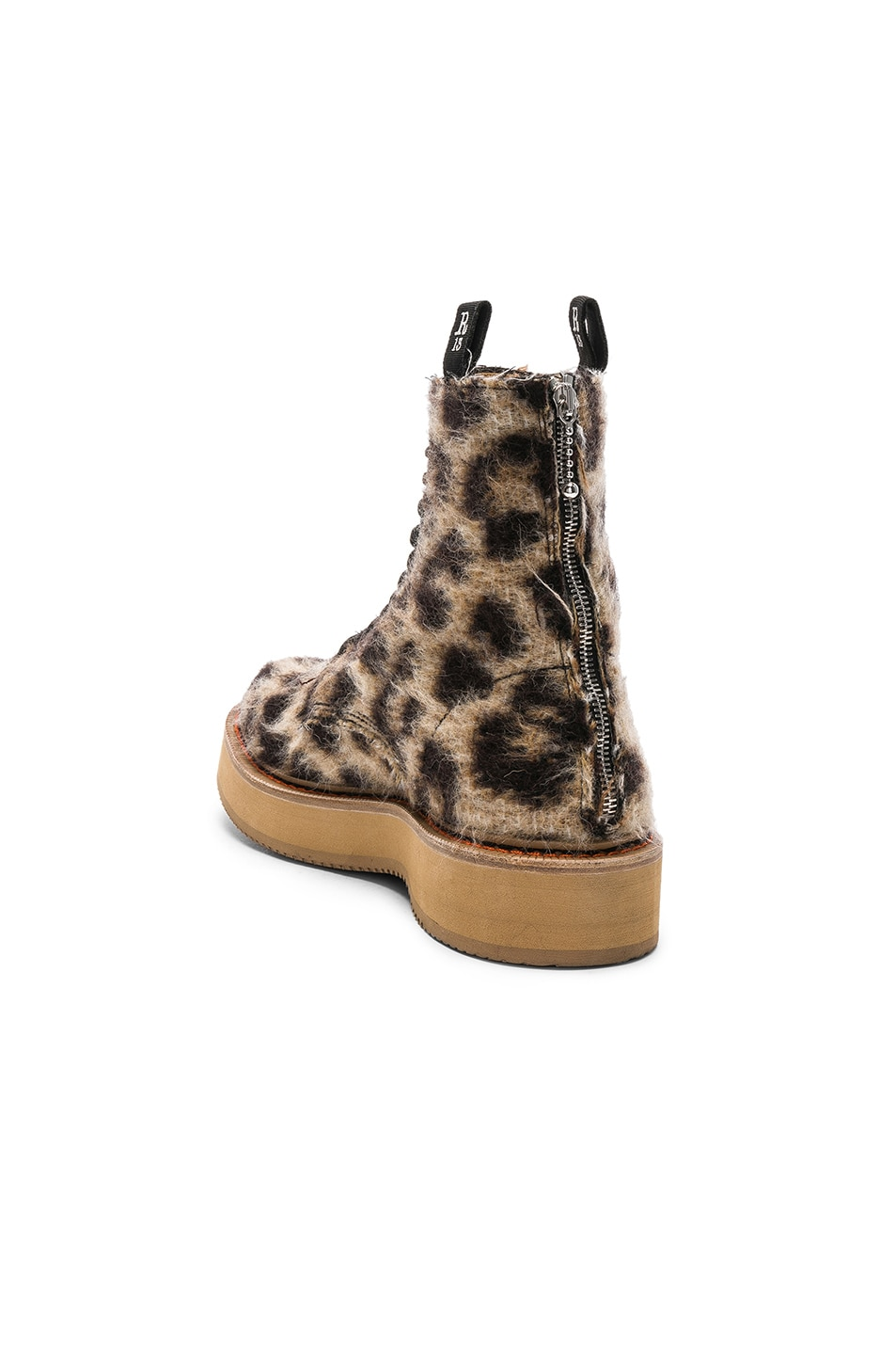 Image 3 of R13 Single Stacked Suede Boot in Leopard