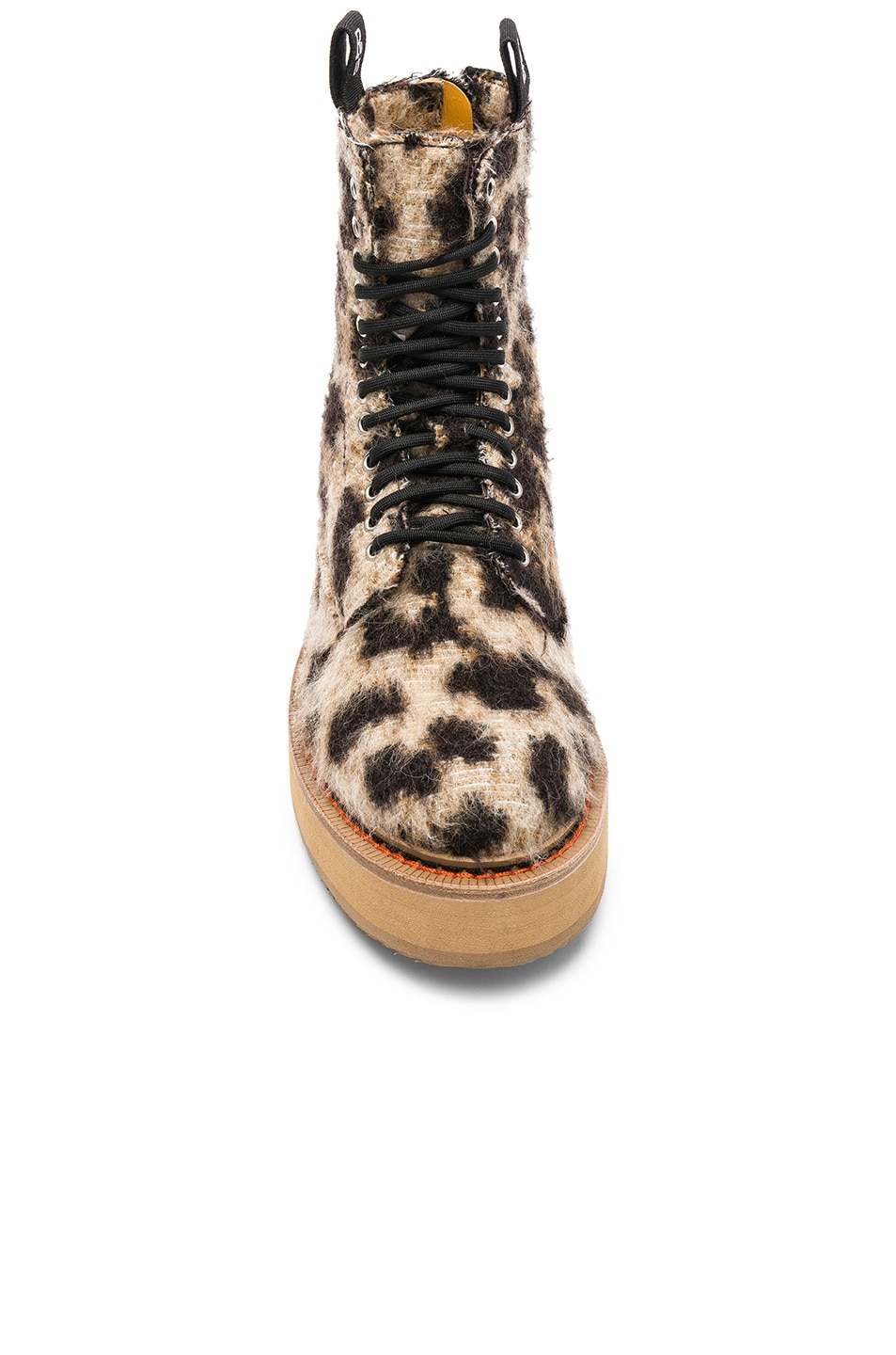 Image 4 of R13 Single Stacked Suede Boot in Leopard