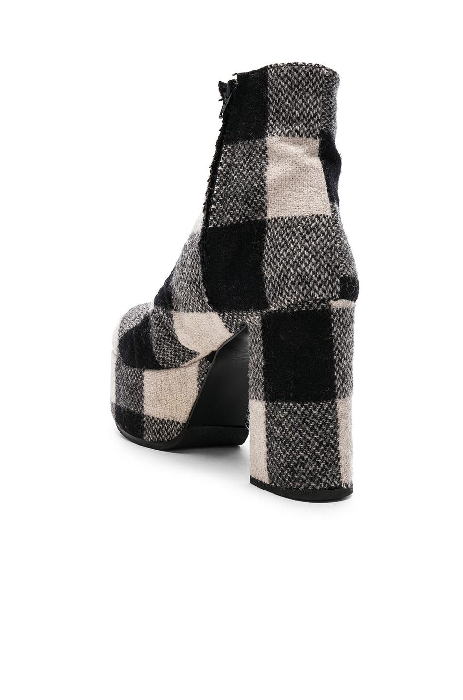 Image 3 of R13 Plaid Platform Boots in Black & White Plaid