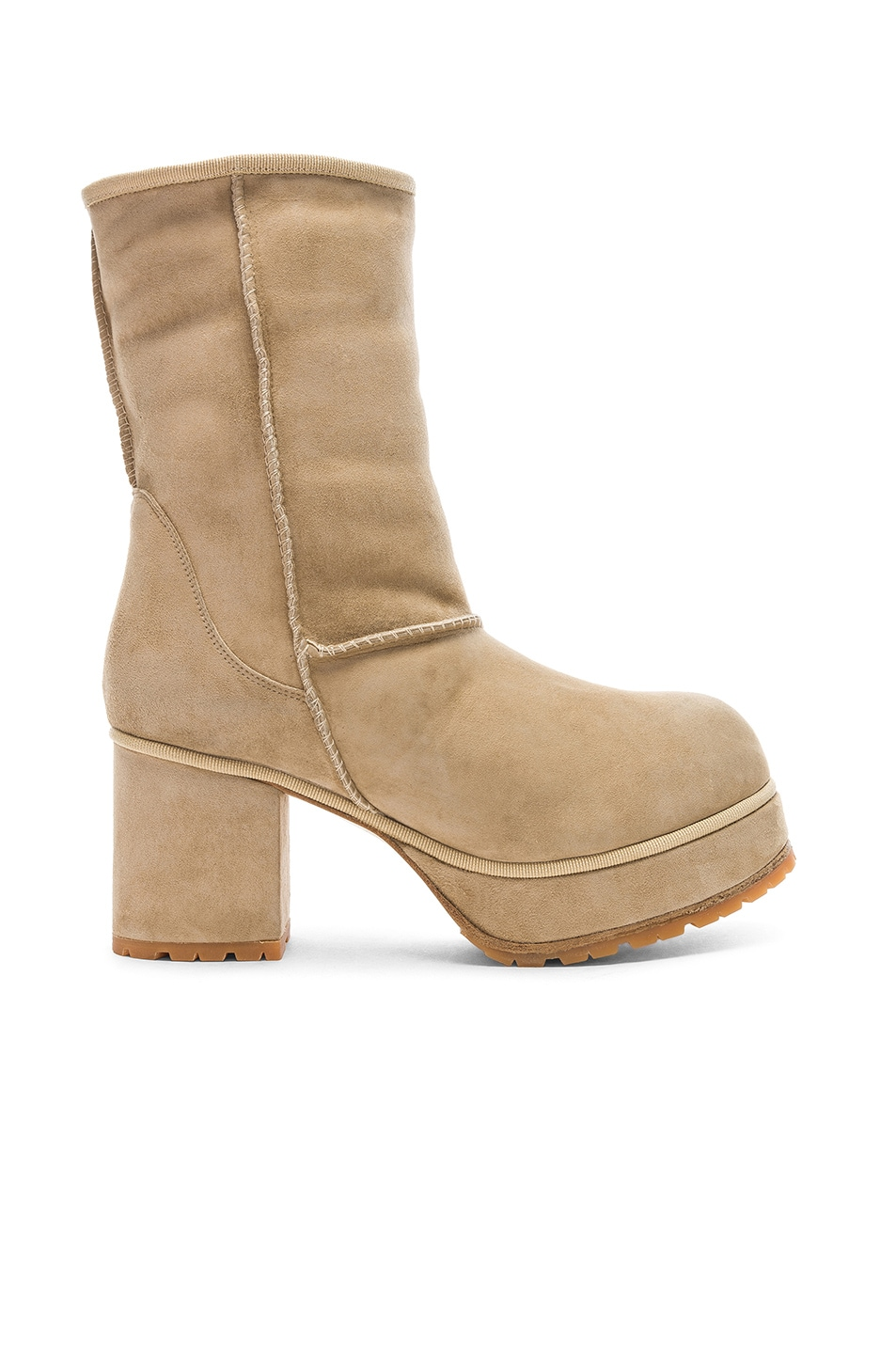 Image 1 of R13 Sheep Shearling Boots in Two Tone Tan