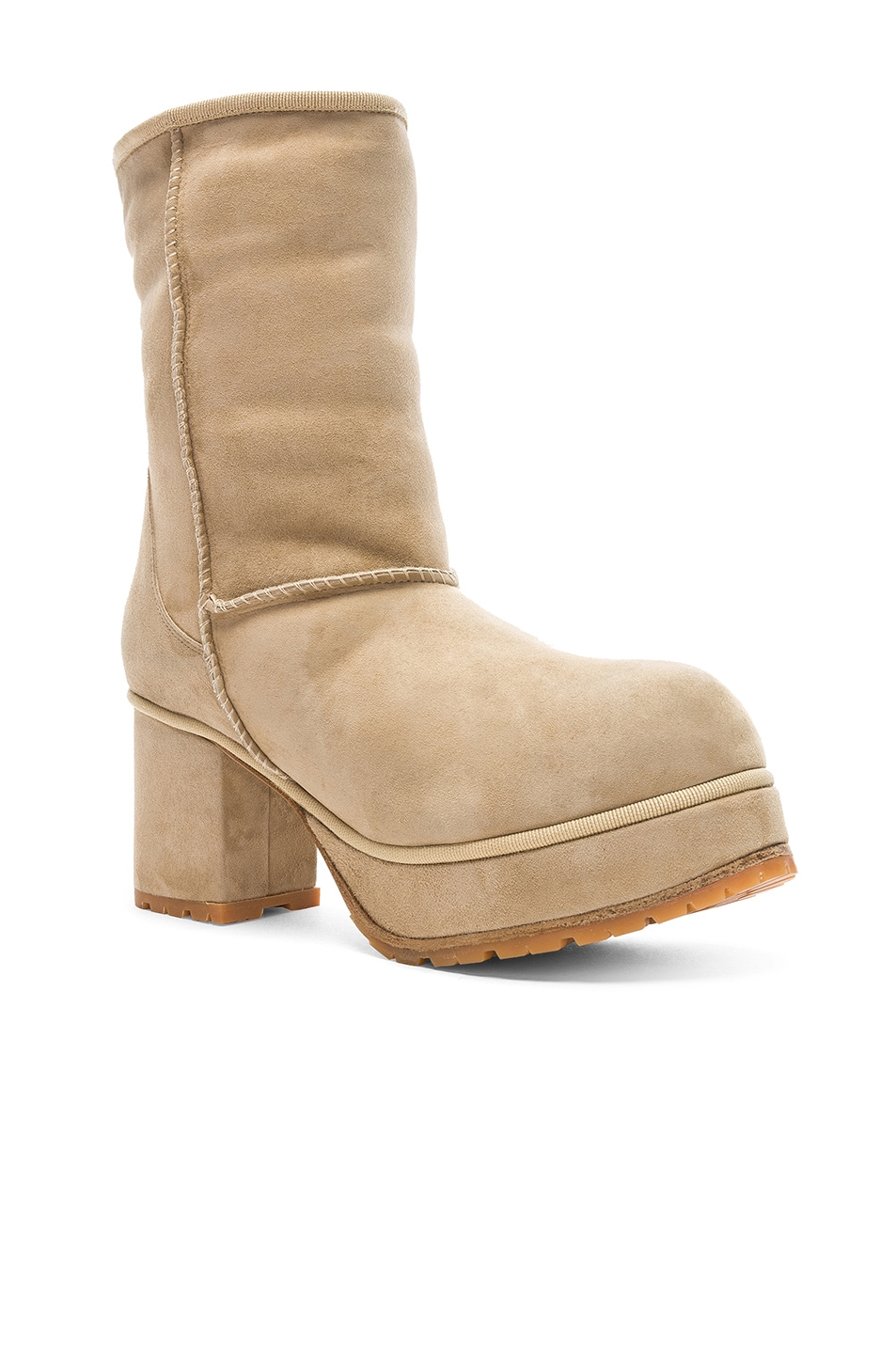 Image 2 of R13 Sheep Shearling Boots in Two Tone Tan