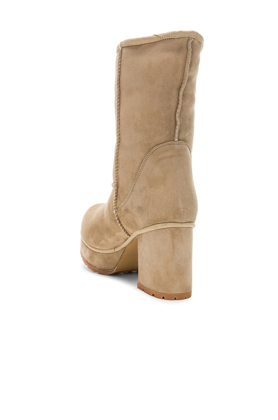 Image 3 of R13 Sheep Shearling Boots in Two Tone Tan