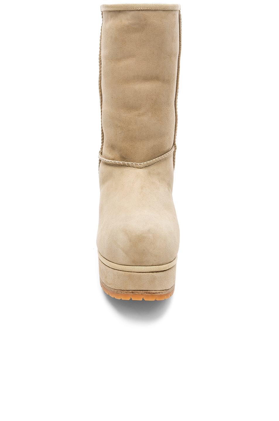 Image 4 of R13 Sheep Shearling Boots in Two Tone Tan