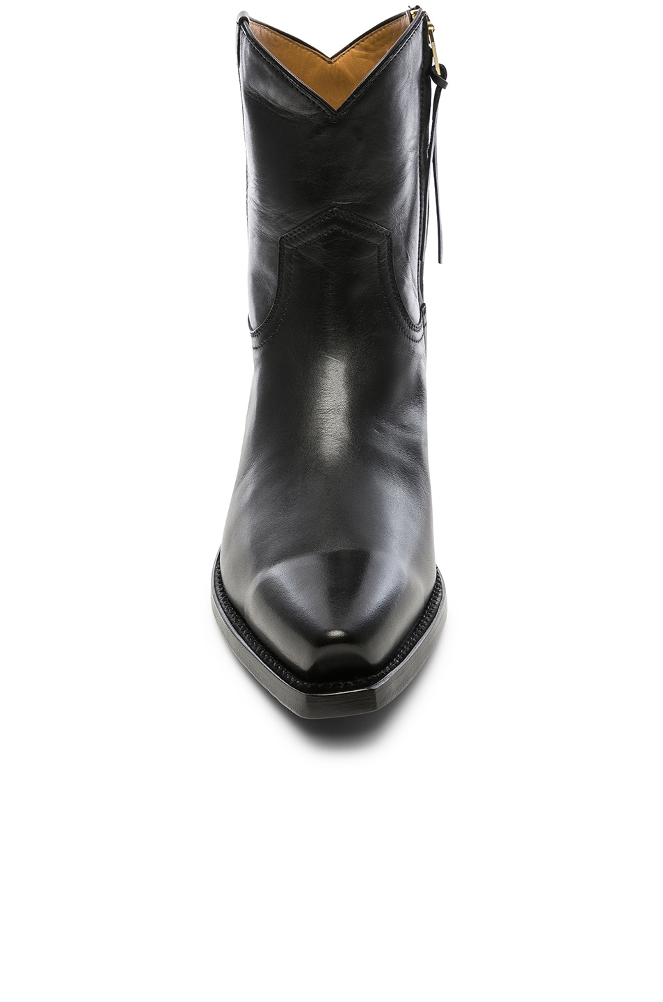 Image 4 of R13 Leather Cowboy Ankle Boots in Black
