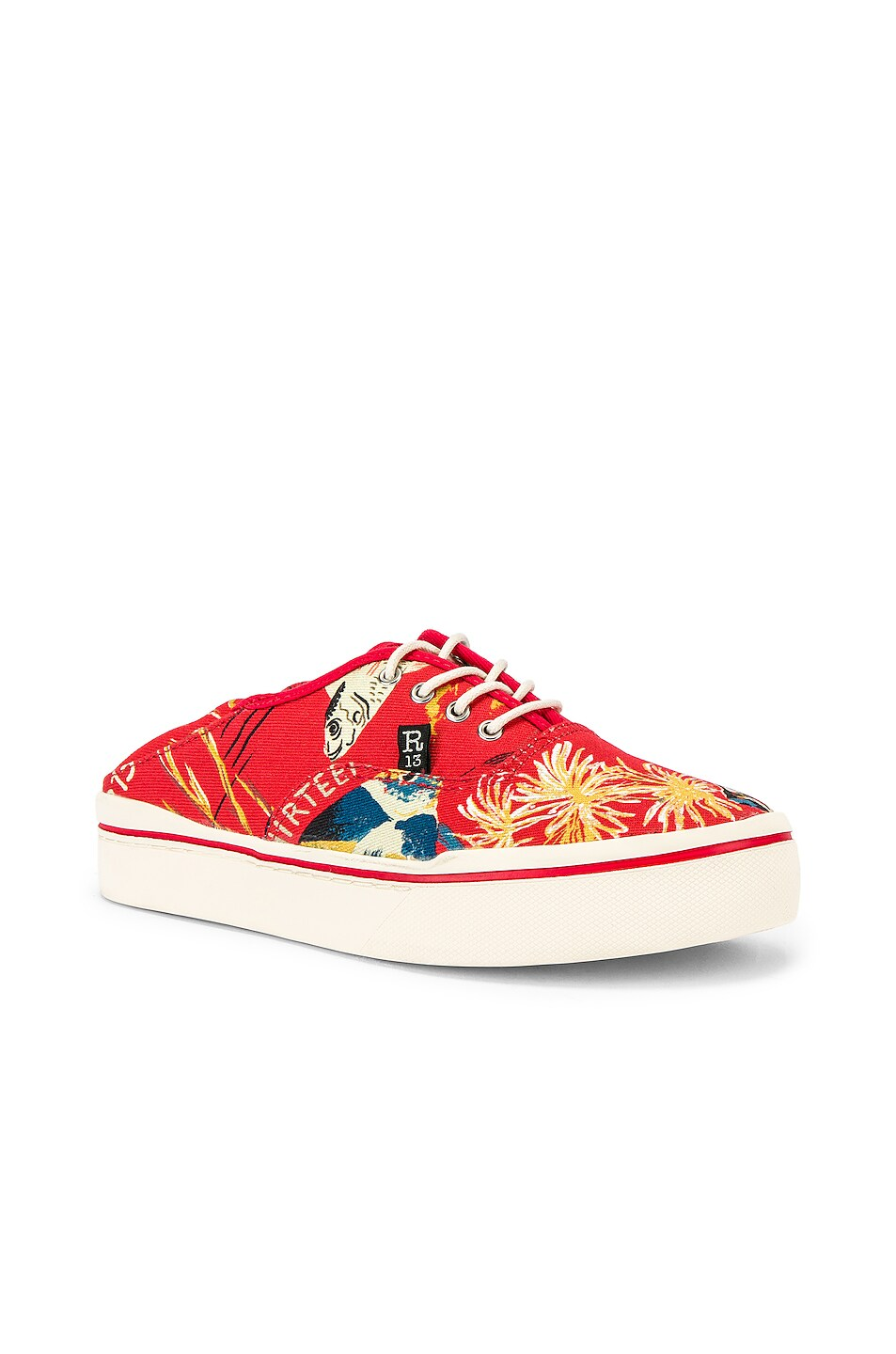 Image 2 of R13 Lace Up Sneaker in Red Fish