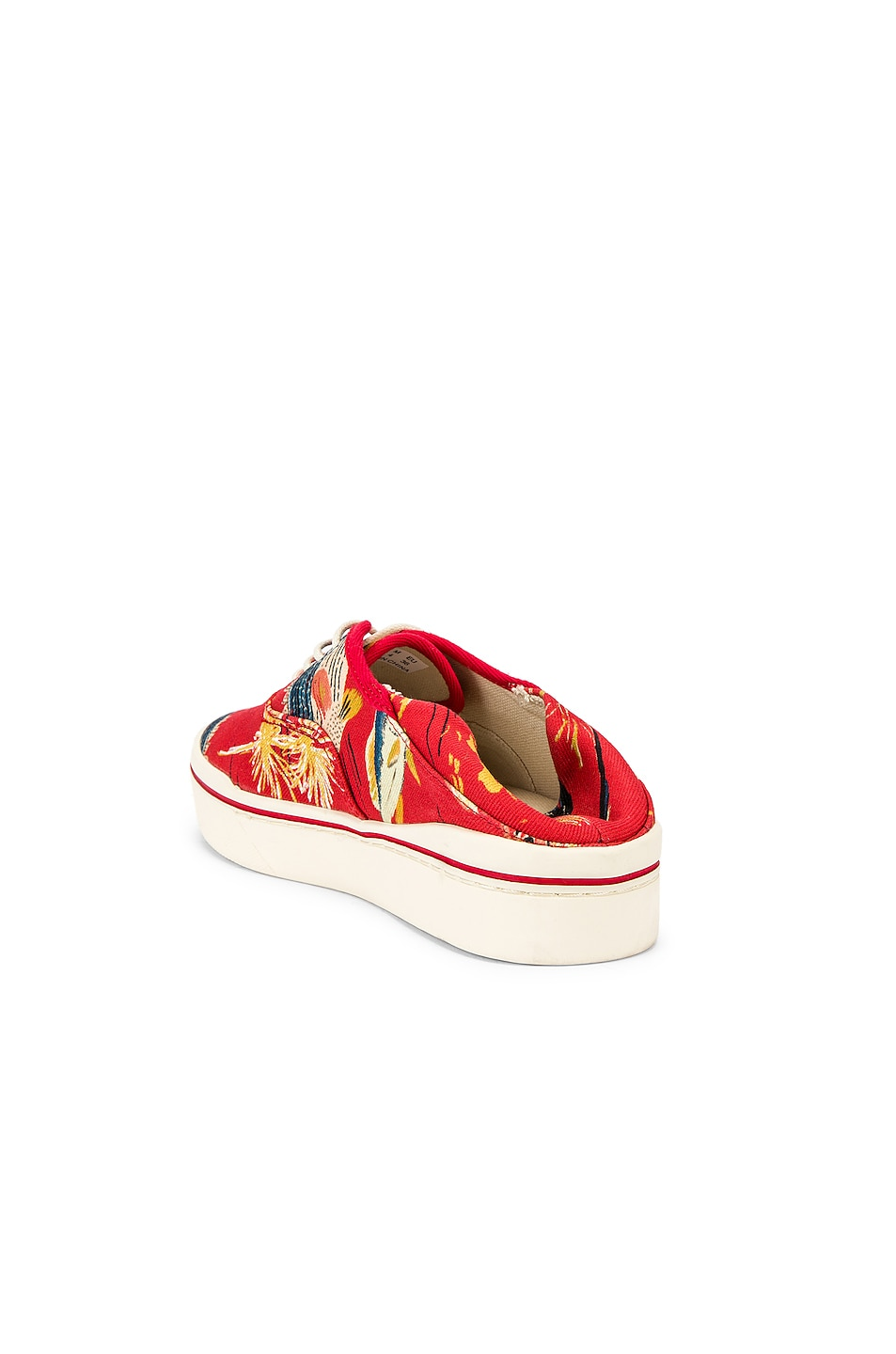 Image 3 of R13 Lace Up Sneaker in Red Fish