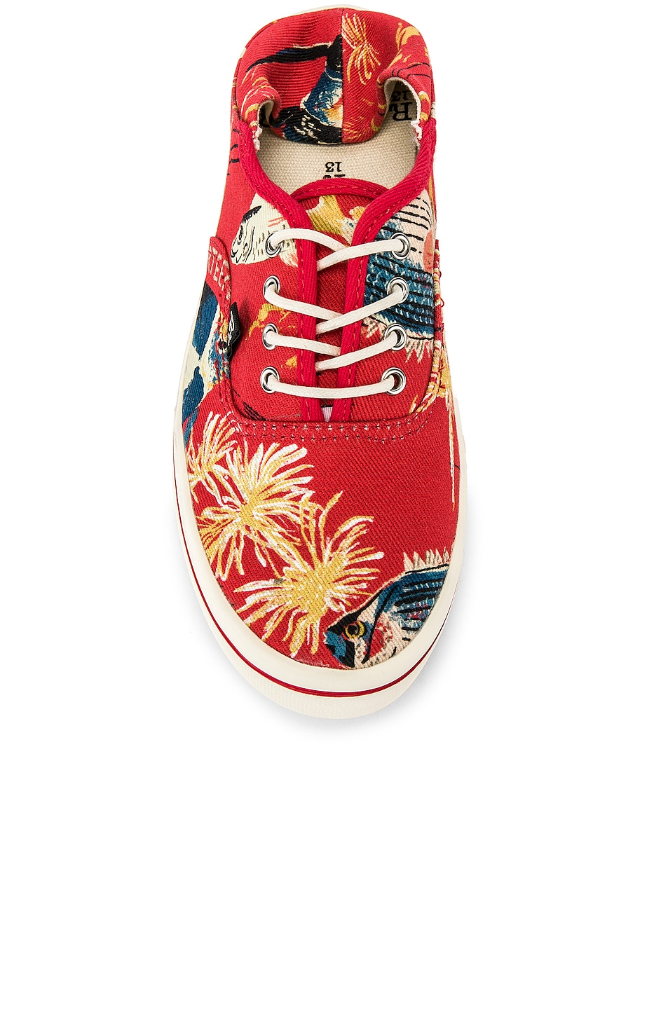 Image 4 of R13 Lace Up Sneaker in Red Fish