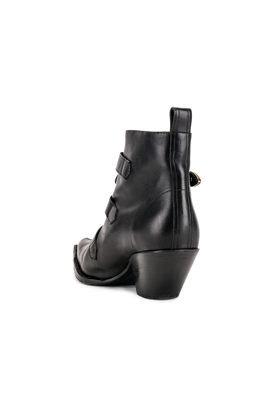 Image 3 of R13 Ankle Three Buckle Boot in Black Leather