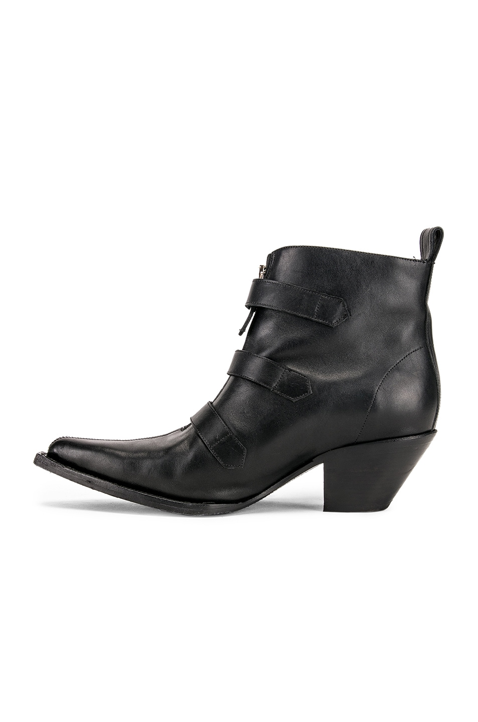 Image 5 of R13 Ankle Three Buckle Boot in Black Leather