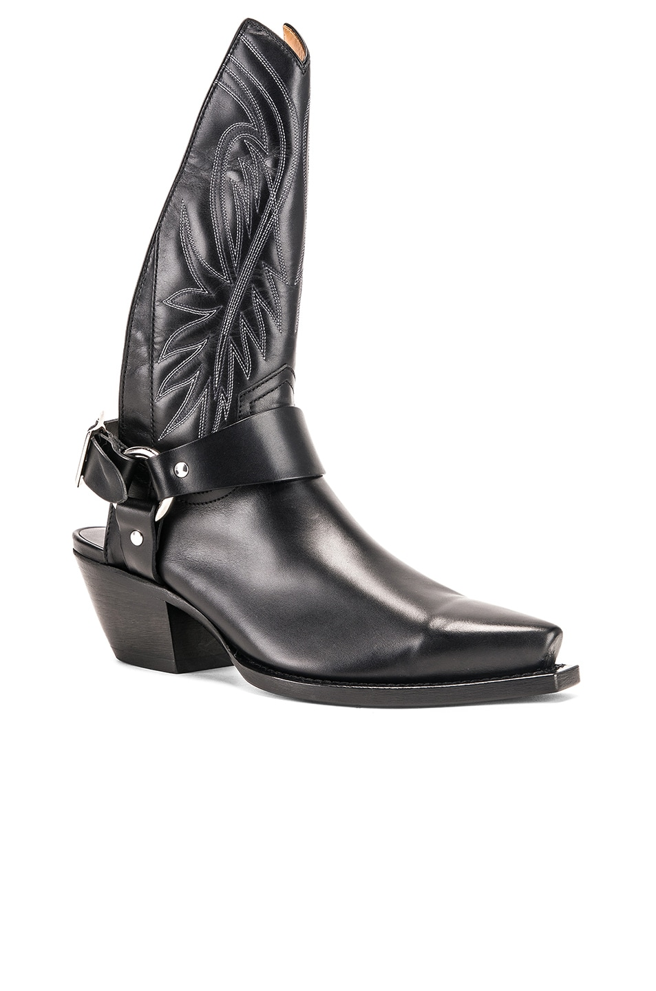 Image 2 of R13 Tall Half Harness Cowboy Boot in Black