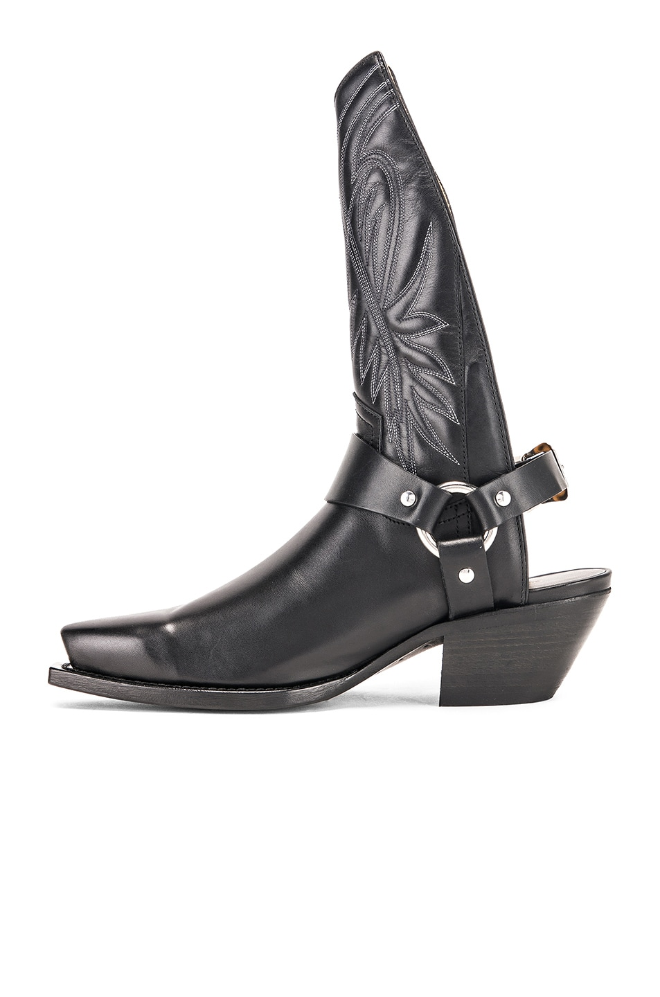 Image 5 of R13 Tall Half Harness Cowboy Boot in Black