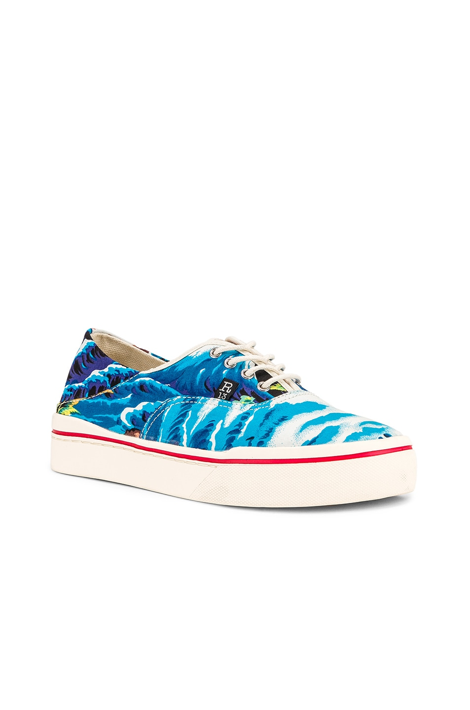 Image 3 of R13 Lace Up Sneaker in Turquoise Wave