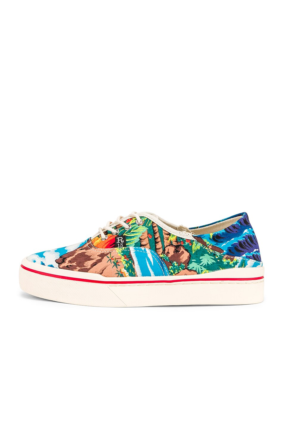 Image 7 of R13 Lace Up Sneaker in Turquoise Wave