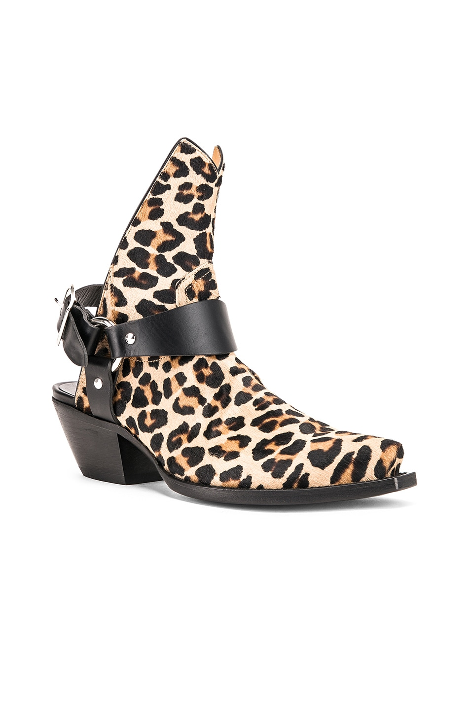 Image 2 of R13 Ankle Half Cowboy Boots in Leopard