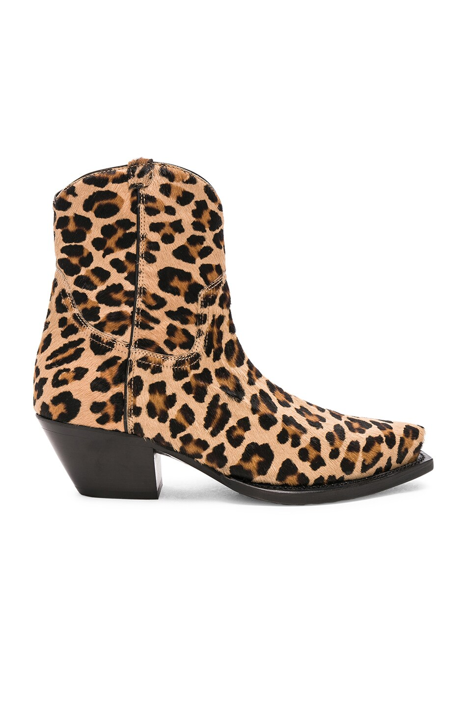 Image 1 of R13 Calf Hair Cowboy Ankle Boots in Leopard