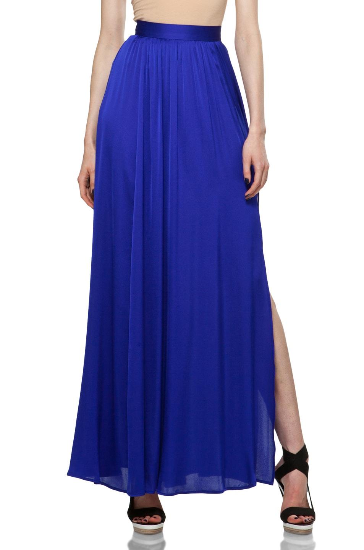 Image 1 of RACHEL ZOE Venessa Maxi Skirt in Royal Blue