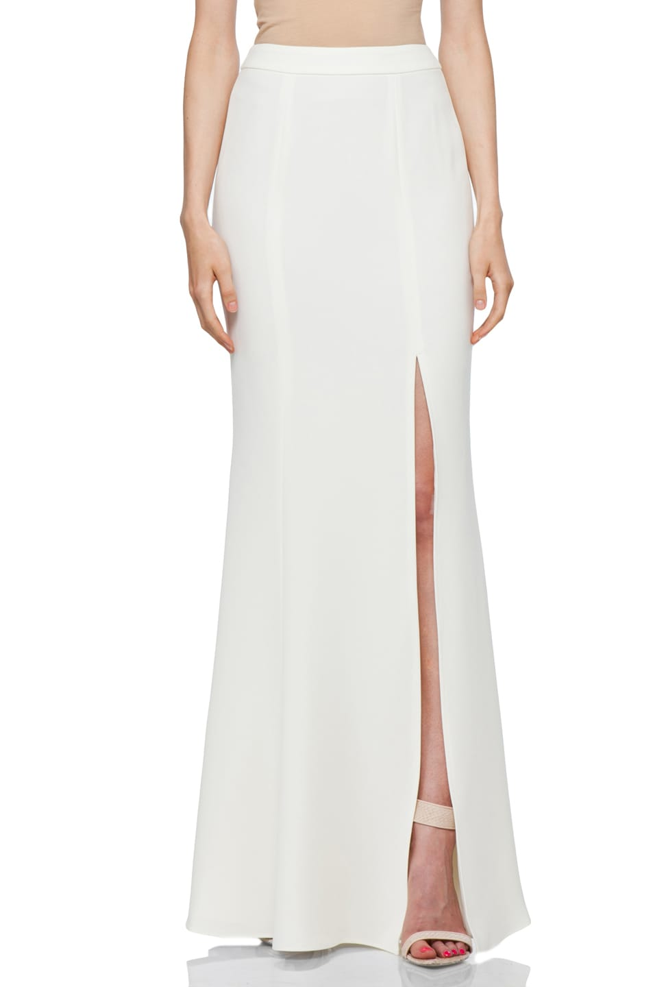 Image 1 of RACHEL ZOE Alia Flared Maxi Skirt in Snow