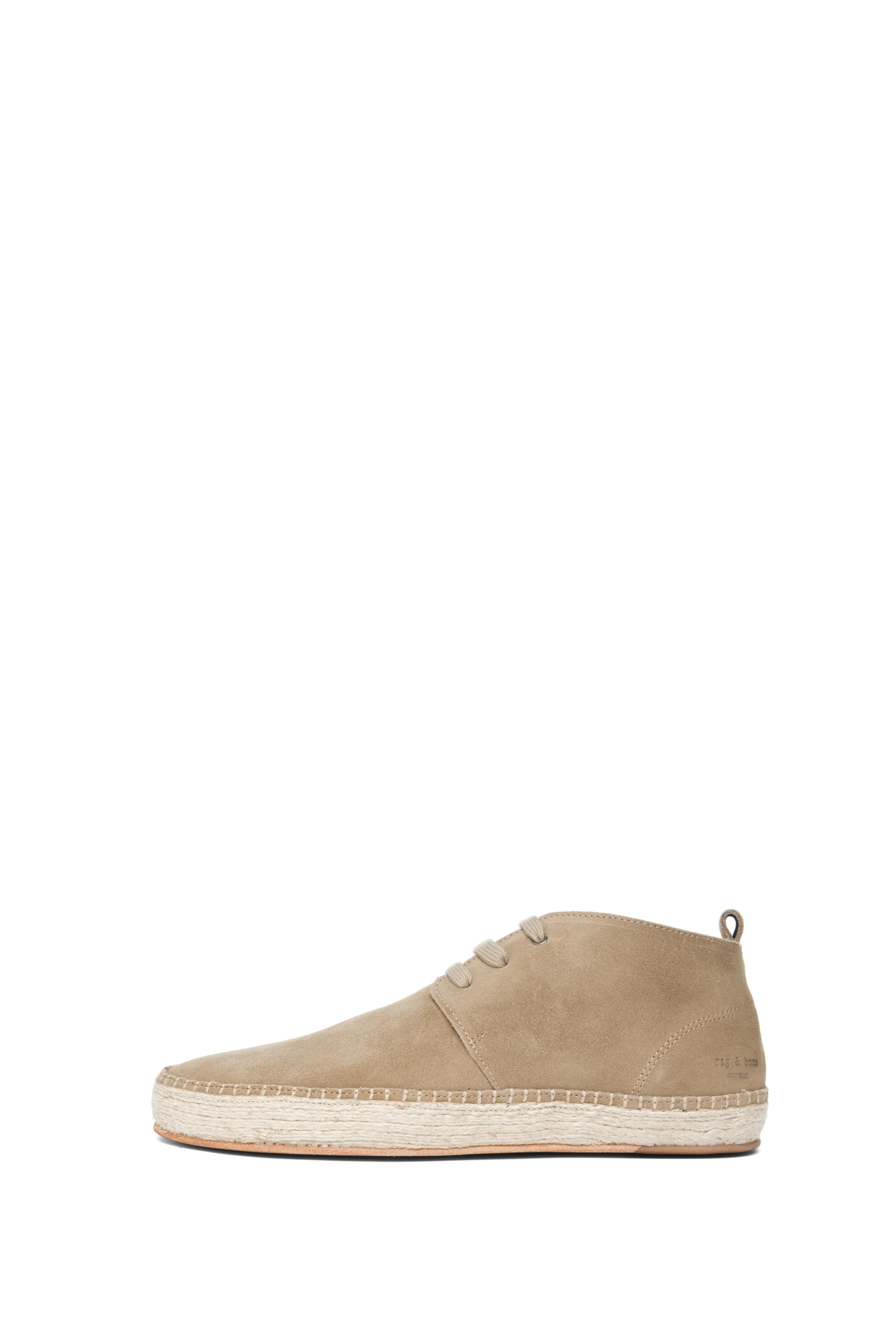 Image 1 of Rag & Bone Clifton Desert Boot Espadrille in Stone
