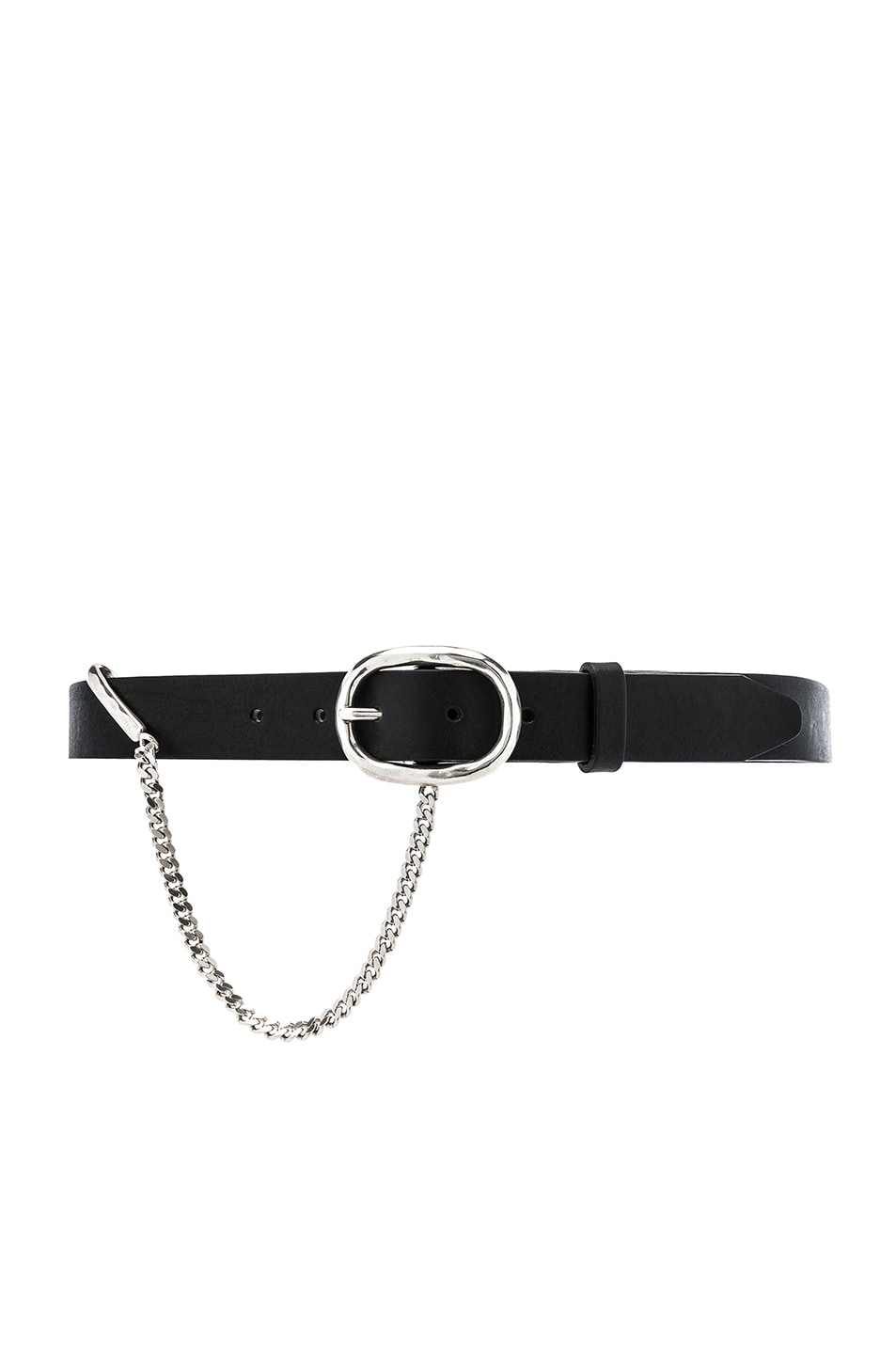Rag & Bone Belts RAG & BONE 30MM BOYFRIEND BELT WITH CHAIN IN BLACK