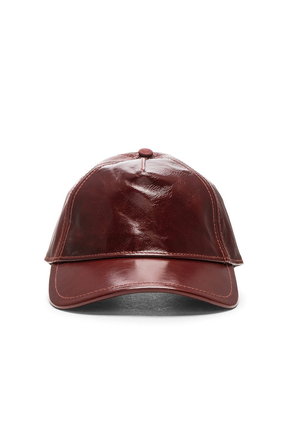 ae041ac84ef Image 1 of Rag   Bone Marilyn Baseball Cap in Dark Brown