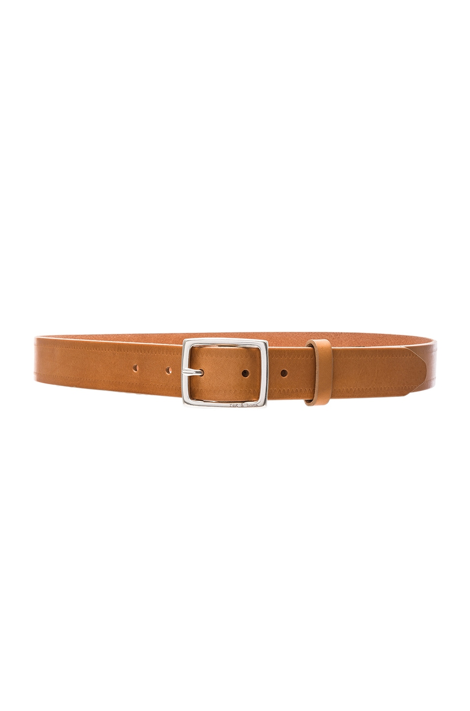 Image 1 of Rag & Bone Boyfriend Belt in Nude