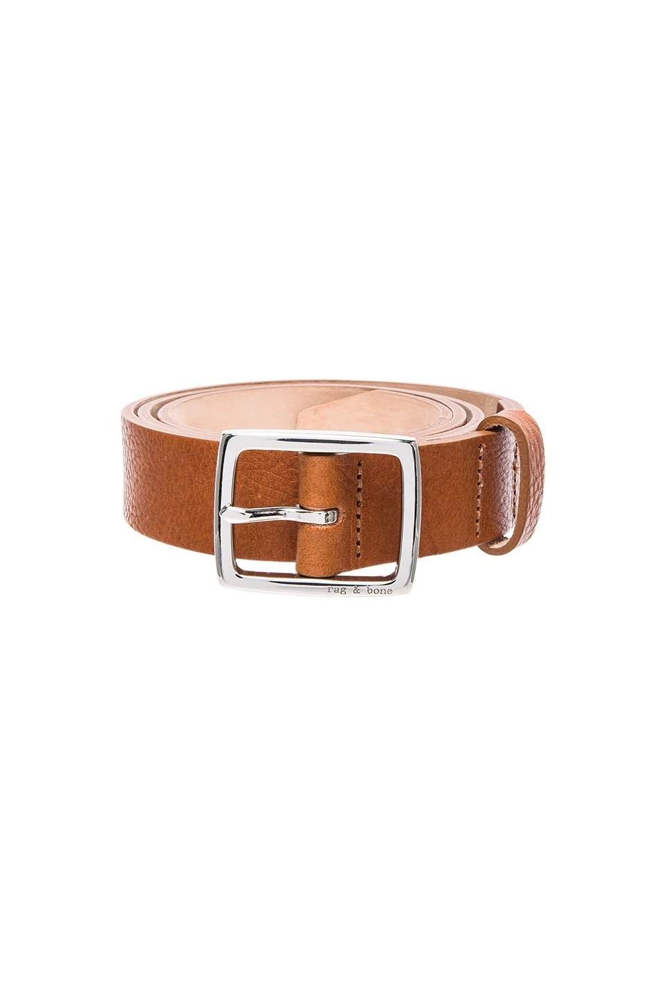 Image 1 of Rag & Bone Boyfriend Belt in Pebbled Tan