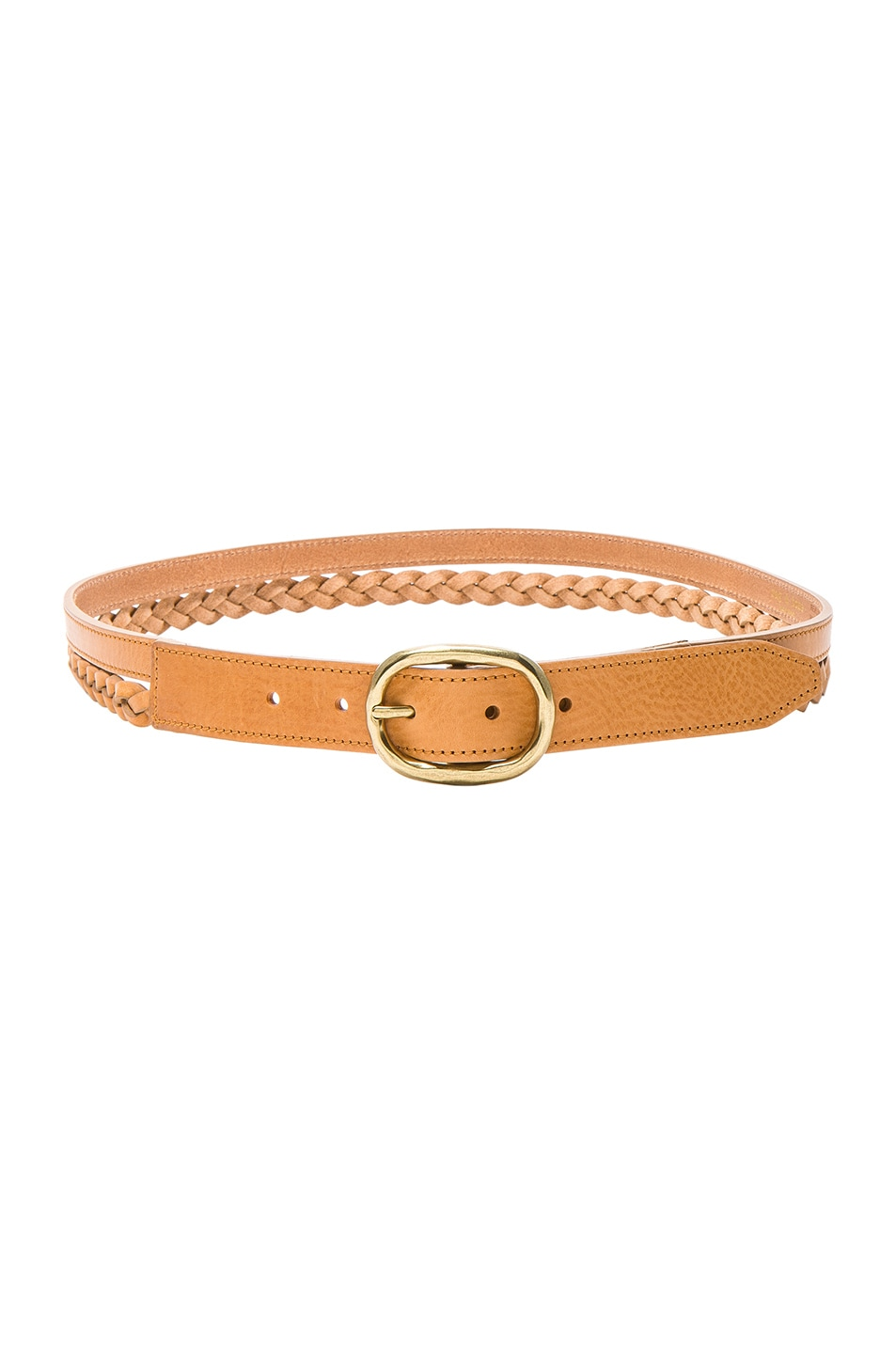 Image 1 of Rag & Bone Calla Braided Belt in Tan