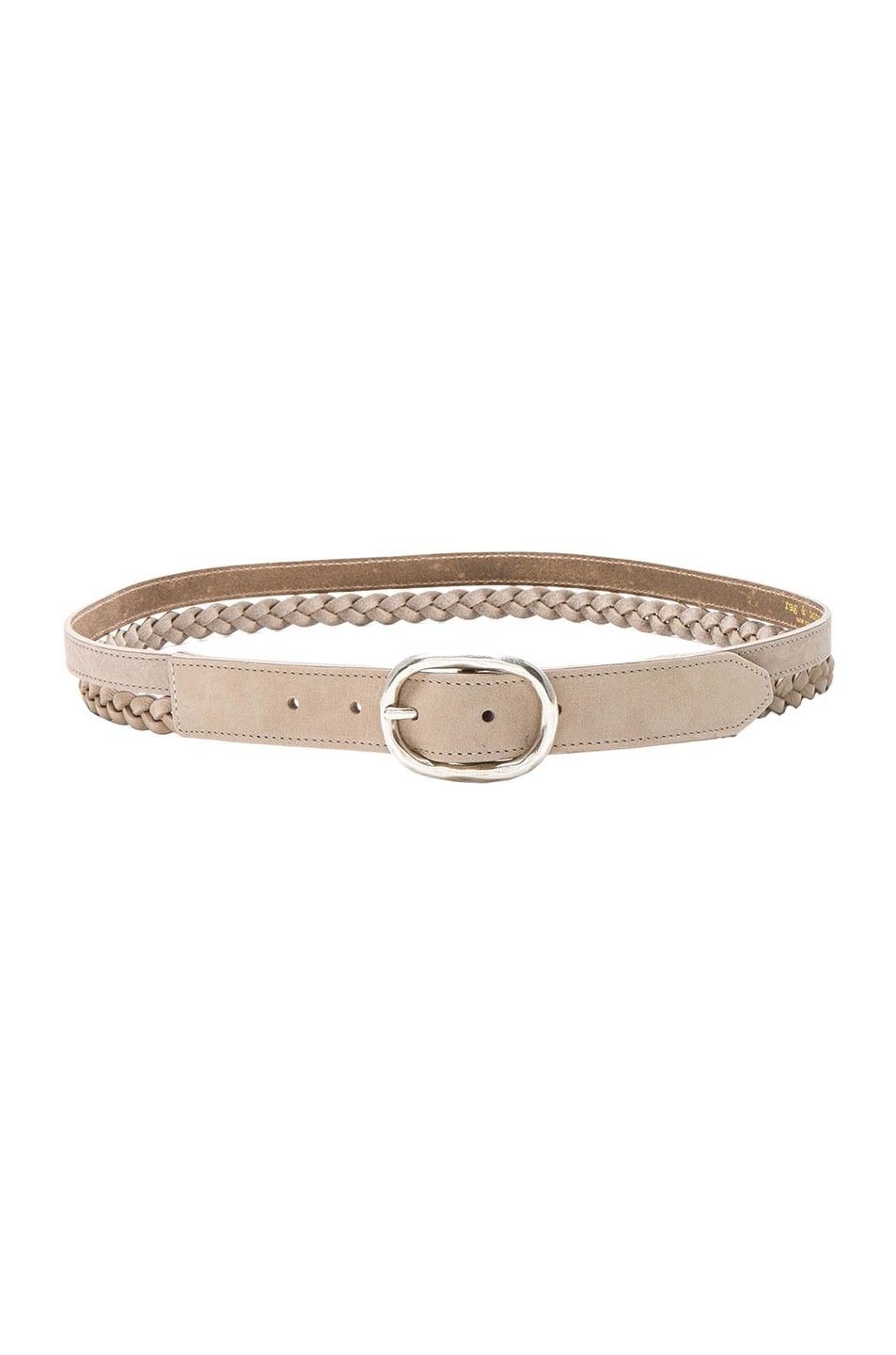 Image 1 of Rag & Bone Calla Braided Belt in Cement