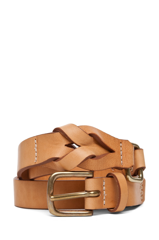 Image 1 of Rag & Bone Hopton Waist Belt in Natural