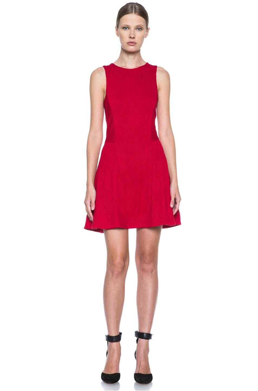 Image 1 of Rag & Bone Geneva Poly-Blend Dress in Red Hot