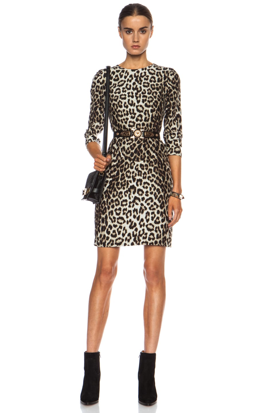 ac3e055c8e42 Image 1 of Rag & Bone Short Silk Dress in Leopard