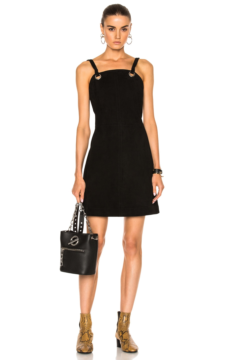 Image 1 of Rag & Bone Croft Suede Dress in Black