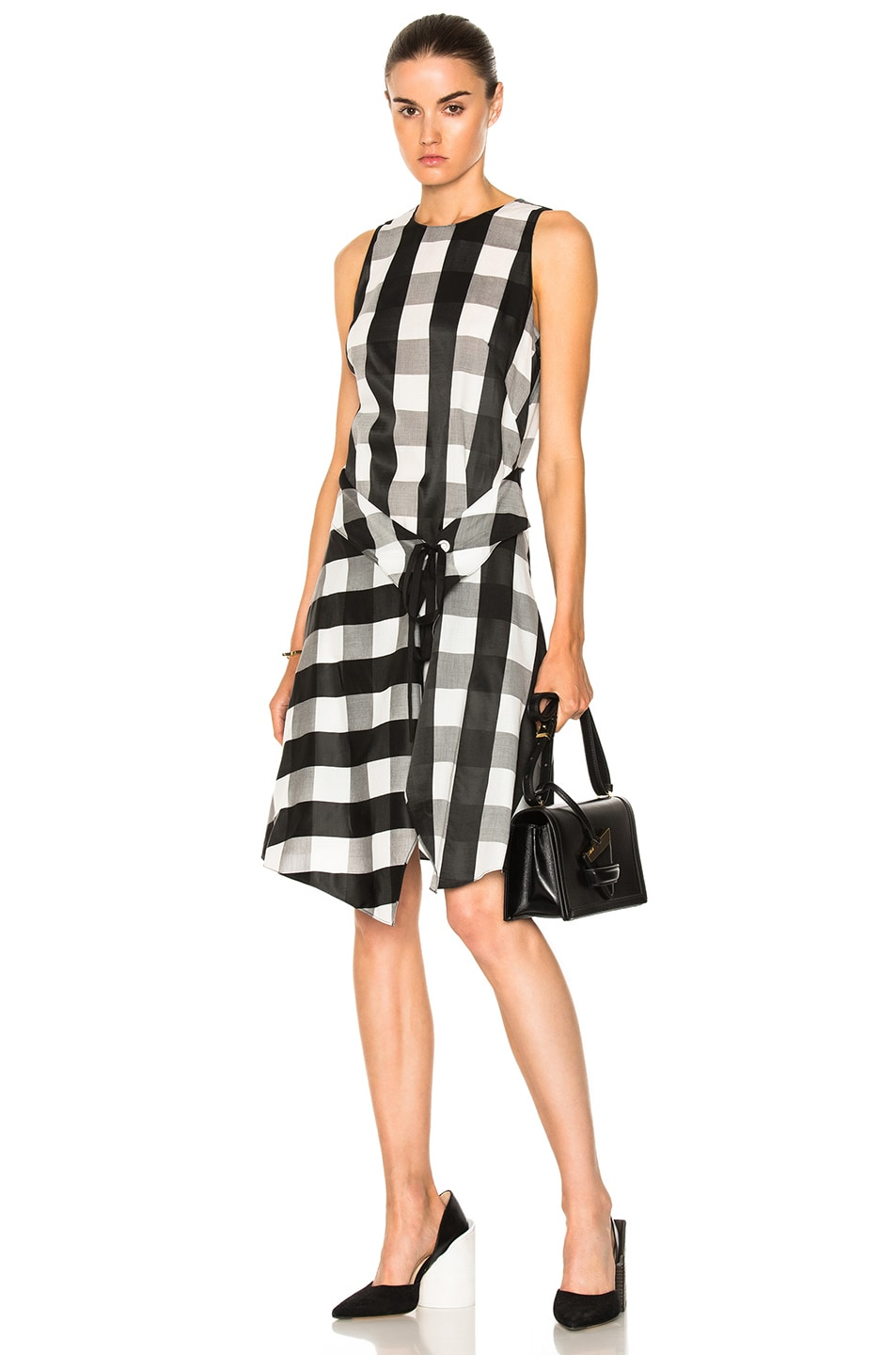 Image 1 of Rag & Bone Brighton Dress in Black & White