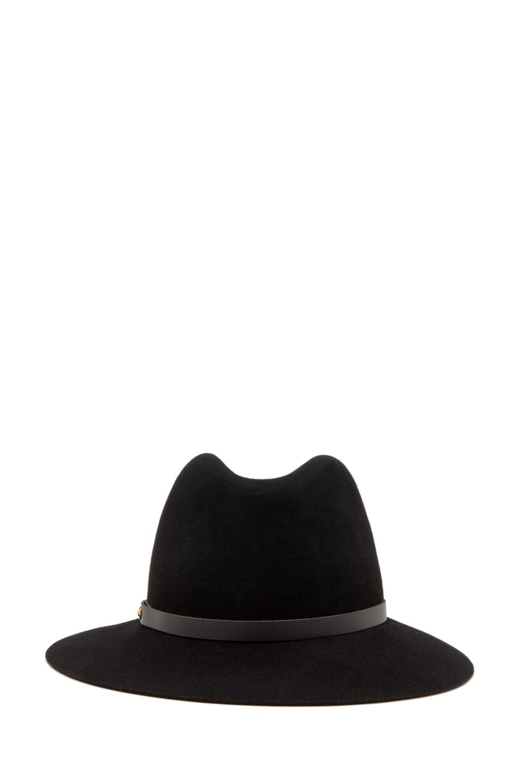 Image 3 of Rag & Bone Floppy Brim Fedora in Black