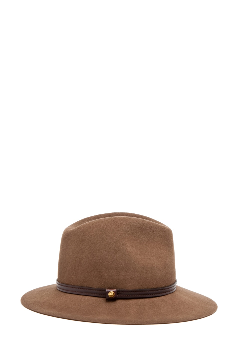 Image 3 of Rag & Bone Floppy Brim Fedora in Pecan