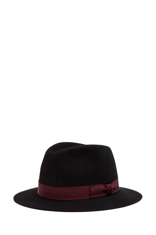Image 1 of Rag & Bone Hampshire Hat in Black