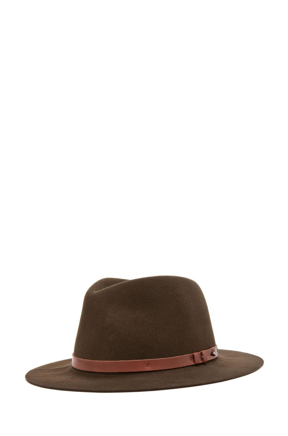 Image 1 of Rag & Bone Floppy Brim Trilby in Olive