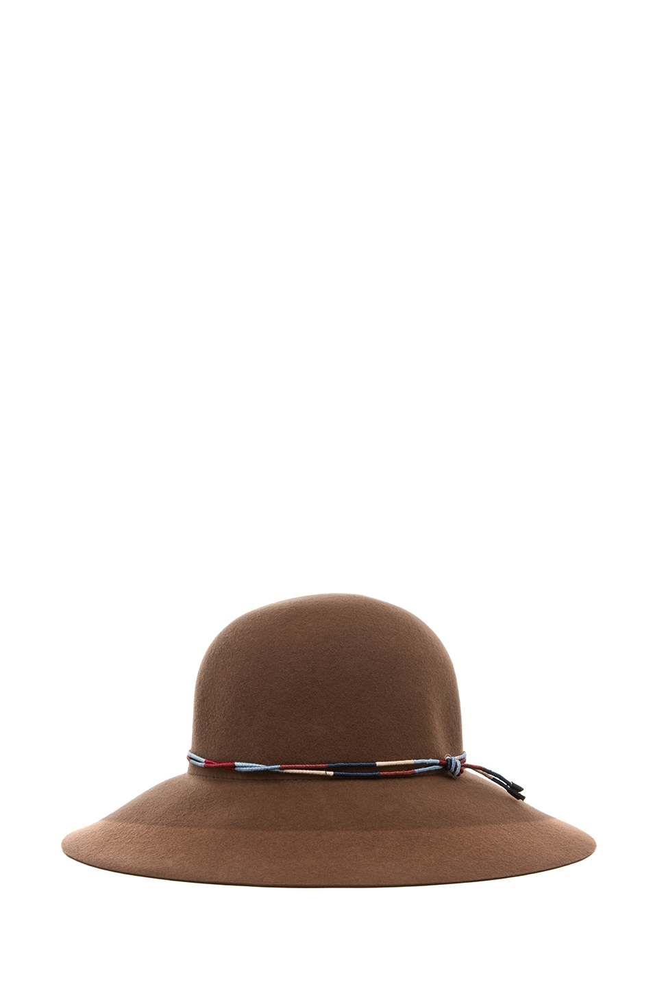 Image 1 of Rag & Bone Dunaway Hat in Chestnut
