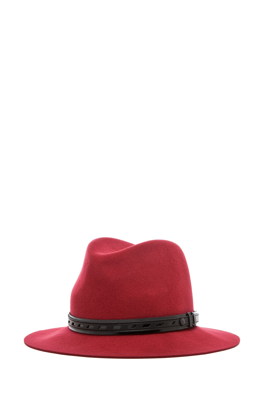 Image 1 of Rag & Bone Floppy Brim Fedora in Red