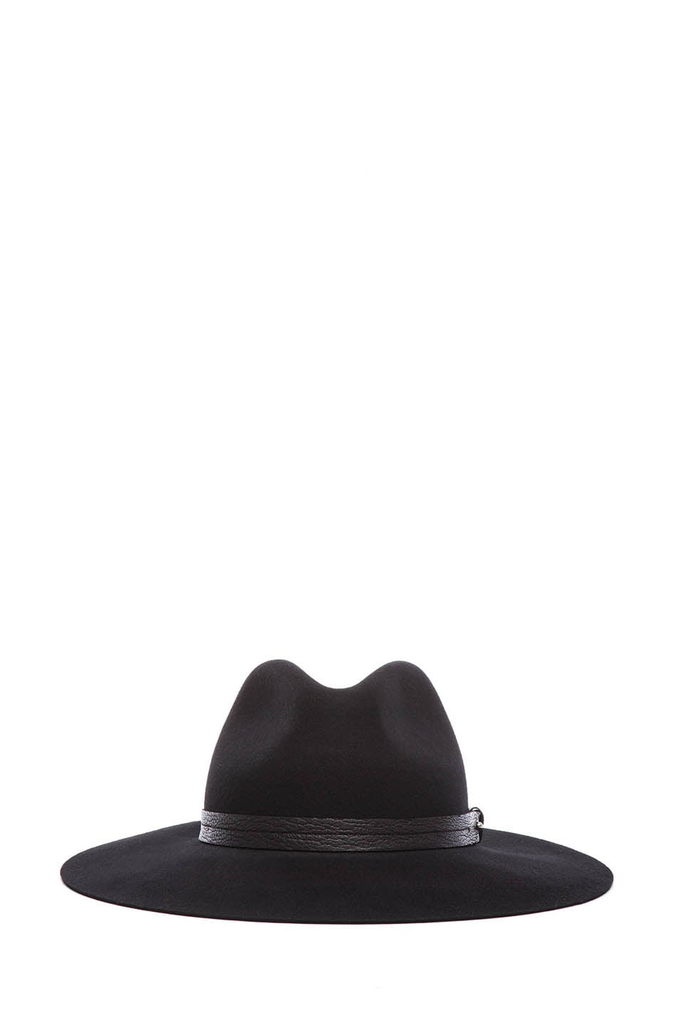Image 1 of Rag & Bone Wide Brim Fedora in Black