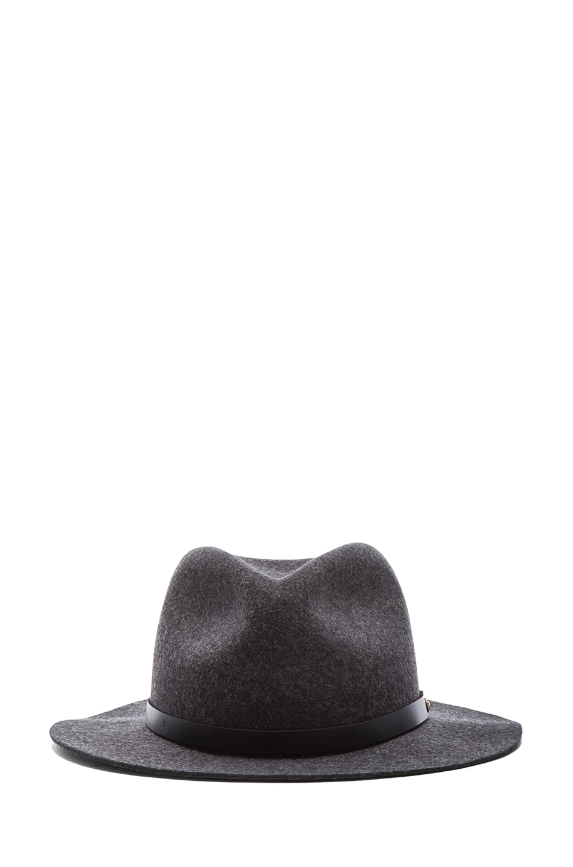 Image 1 of Rag & Bone Abbott Fedora in Charcoal